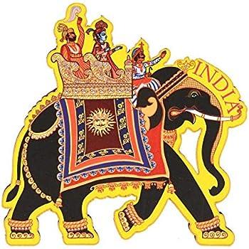 Skywalk India Souvenir Wooden Fridge Magnet - Elephant, Perfect for Gifting