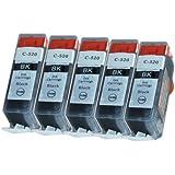 5 Druckerpatronen Tinte für Canon Pixma IP3600 IP4600 MP540 MP560 MX870 ersetzen PGI520 mit Chip