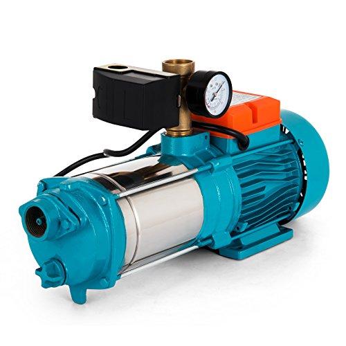 Buoqua Stainless Steel Centrifugal pump 1300W Kreiselpumpe 5100 L/h Gartenpumpe selbstansaugend 5,1 bar (MC-6SA)