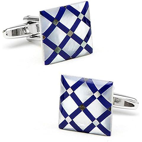 Gemelli Lapis taglio diamanti blu