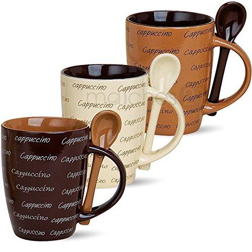 G. Wurm GmbH matches21 Cappuccino 3 Stück Original Cappucchino Tassen Becher Kaffeetassen...