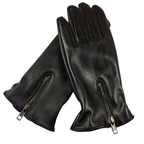 eozy-gants-cuir-homme-conduite-doublure-moto-velo-cachemire-chaud-zip-epais-noir
