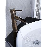 da LightInTheBox - bronzo antico bagno rubinetto lavabo cascata (disegno di figura di bamb? - Bronzo Antico Di Figure
