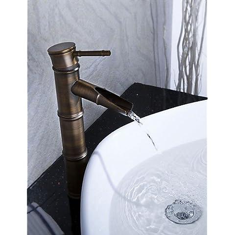 Sprinkle - da LightInTheBox - bronzo antico bagno rubinetto lavabo cascata (disegno di figura di bamb¨´) - Bronzo Antico Di Figure