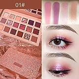 Professionelle Glitzer Lidschatten Makeup Set - Langlebige Lidschatten Palette - Schminke Gesicht Pigmente Powder Makeup Kit (18 Farben)