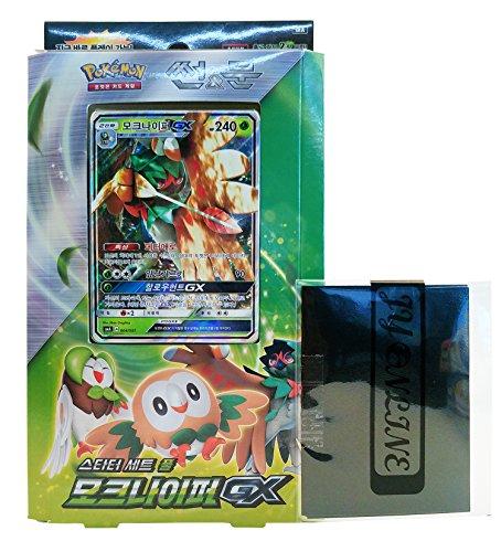 Pokemon Karte Sun & Moon Decidueye-GX Starter Set Grass + 3pcs Premium Card Sleeve Koreanisch Ver TCG (Pokemon Karten Original-set)