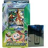 Pokemon Cartas Sun & Moon Decidueye-GX Starter Set Grass + 3pcs Premium Card Sleeve Corea Ver TCG