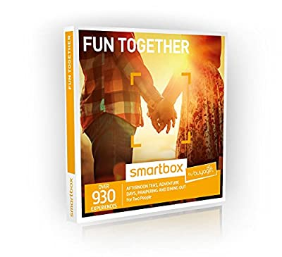 Buyagift Fun Together Gift Experiences Box - 930 Gift Experiences - For Couples, Pamper Day, Dinner for Two, Days Out, Spa Day, For Two, Afternoon Tea,