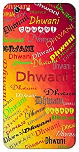Dhwani (Sound) Name & Sign Printed All over customize & Personalized!! Protective back cover for your Smart Phone : SONY M-4