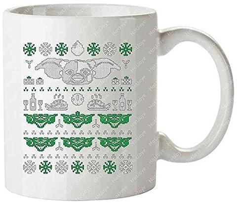 Peltzer Winter Sweater Nerd Funny Geek Pop Culture Peltzer Gizmo Mogwai Ugly Christmas Sweater Gremlins Travel Mug(Teetassen/Kaffeetassen) Tea Cup