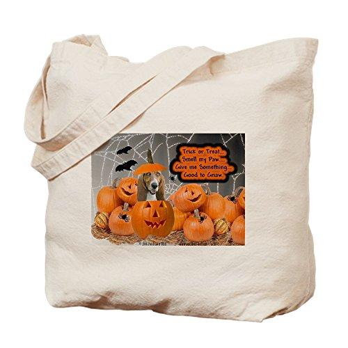 CafePress Tragetasche für Halloween, Basset Hound, canvas, khaki, S (Machen Halloween-zeug Zu)