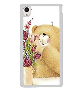 Cute Bear 2D Hard Polycarbonate Designer Back Case Cover for Sony Xperia M4 Aqua :: Sony Xperia M4 Aqua Dual