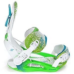 Pathron Snowboard Bindung Fastec Team ST White/Green/Blue