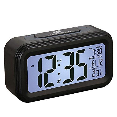 Despertador Digital - Maxesla Despertador Digital Inteligente Con 360° Visible LED Pantalla, Fecha Y Temperatura Pantalla, Función Snooze, Luz De Fondo Inteligente Con Atenuador