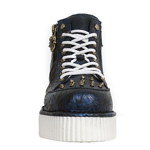 New Rock M Crp002 S5, Boots mixte adulte Bleu (Vintage Flower Azul/Box Azul/Met)