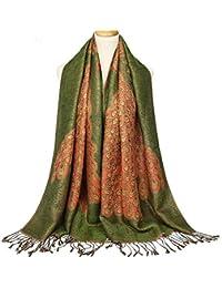ZHANGYONG Femme Echarpe Elégante Écharpe Châle Foulard Écharpe en Coton Épais  Écharpe Automne Et Hiver Écharpe 80d76031ee6