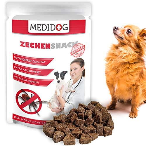 Medidog Original Zecken Snack 150g, Extra Kaltgepresst und Getreidefrei Zeckenschutz für Hunde, von Tierärzten empfohlen,Kokosöl, Schwarzkümmelöl, Zistrose, perfekt Zeckenhalsband