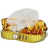 Sonia Originelli Orientalischer Hut Wunderlampe Orient Fasching Karneval Kostüm Farbe Gold