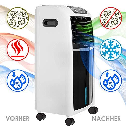 KESSER® 4in1 Mobile Klimaanlage   Fernbedienung   Klimagerät   Ventilator Klimaanlage   8 L Wasser/Eis Tank   Timer   3 Stufen   Ionisator Luftbefeuchter   Luftkühler Weiß Bild 6*