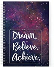 Lauret Blanc Daily Planner and Organizer, to Do List, Affirmation and Gratitude Journal- A5, 80 GSM, 160 Pages. Plan for 80 Days (Purple 2)
