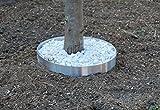 Beeteinfassung Baumeinfassung aus Edelstahl 100 mm hoch - 1,5 mm stark (400 mm)