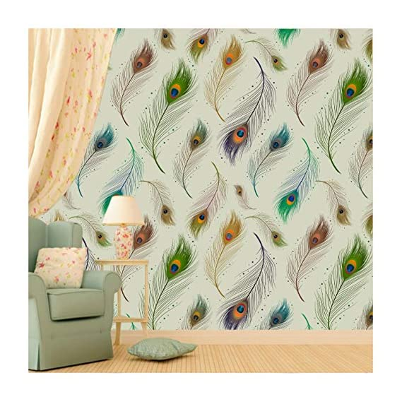 Paper Plane Design Wallpaper Self Adhesive Sticker Theme Floral Printed Multicolour- 30 sq. ft, 16 X 90 inch X 3 Rolls