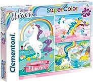 Clementoni Super Color Puzzle I Believe In Unicorns, Multi-Colour, 3 x 48 Pieces