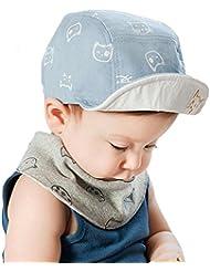 Béisbol Tapa, AISI Baby Boy Girl Kid Toddler bebé algodón sombrero protección solar visera Boina Tapa, Infantil, color azul, tamaño small