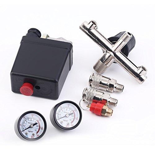 Poncherish Régulateur de pression avec pompe Interrupteur pour pressostat compresseur Compresseur d'air Bama