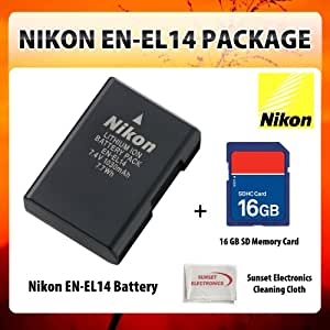 Nikon En El14 Rechargeable Li Ion Battery For Nikon Amazon Co Uk