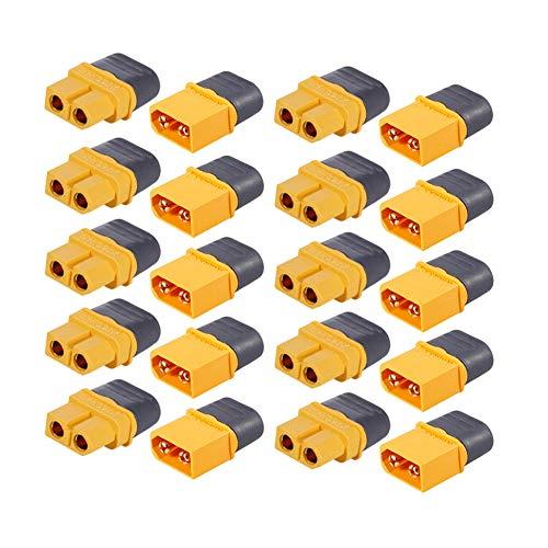 InvocBL Lot de 10 Paires de connecteurs mâles Femelles pour Avion Quadcopter RC