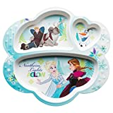Zak Designs 3-Section Plate with Elsa, Anna & Olaf from Frozen, BPA-free