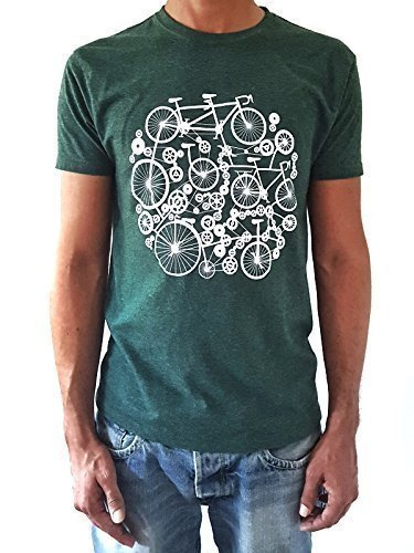 Camiseta de hombre Bicicletas - Color Verde botella Heather...