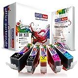 10er multiPack kompatible Druckerpatronen zu CANON PGI-520 / CLI-521 mit Chip + 10 Blatt OFFICE-Partner Fotopapier 10x15cm - passend für CANON Pixma IP3600 / IP4600 / IP4600 X / IP4700 MP540 / MP550 / MP560 / MP620 / MP630 / MP640 / MP640 R / MP980 / MP990 MX860 / MX870