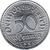 Münzen 50 Pfennig Deutschland, 1921 A (Jäger: 301) VZ