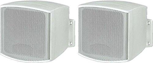 MONACOR MKS-26/WS - Regel/Wand/Satelliten Lautsprecher/Boxen/Speaker 40W Weiss