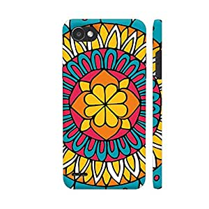 Colorpur Retro Mandala Printed Back Case Cover for LG Q6