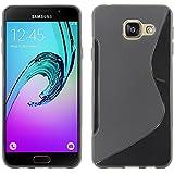 ebestStar - pour Samsung Galaxy A5 2016 A510F - Housse Etui Coque Silicone Gel Motif S-line Souple, Couleur Noir [Dimensions PRECISES de votre appareil : 144.8 x 71 x 7.3 mm, écran 5.2'']