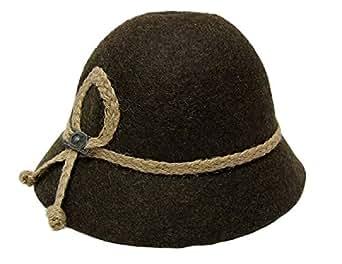 Kinder Trachten Hut braun Gr. 49