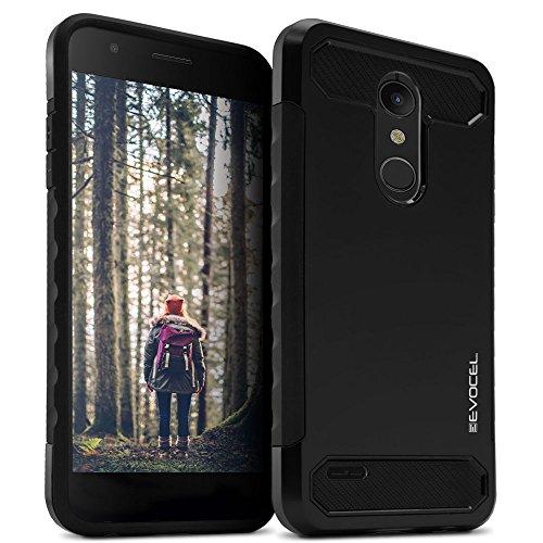 LG K30Fall, evocel [Dual Lite Serie] mit eine schlanke Leichte Profil und matt Finish für LG K30/LG K10(2018)/LG Premier PRO LTE, schwarz - T-mobile Telefono