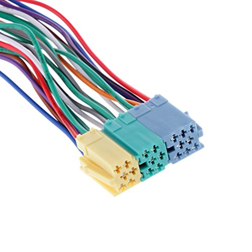 Gazechimp 20 Pin Autoradio Adapterkabel Adapter Kabel Kabelbaum Mini ISO Block Adapter CD Anschluss