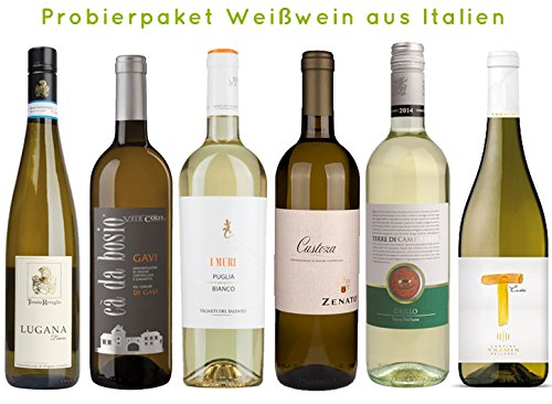 6er Probierpaket Weißwein aus Italien   6 x 0,75L.   trocken