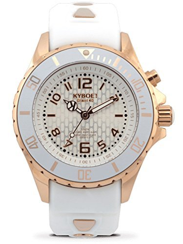 KYBOE! ROSE GOLD GHOST RG.40-003.15 Ladies White LED Watch