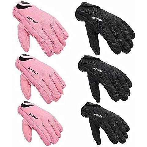 Calli 1.5mm completos de neopreno dedo scuba diving guantes de pesca palmas unisex textura guantes