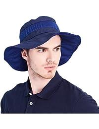 Kenmont hommes d'été Uv soleil seau chapeau de pêcheur extérieure randonnée de pêche chapeau de safari