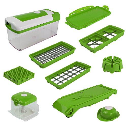 Genius Nicer Dicer Fusion 13tlg grün SONDEREDITION Gemüseschneider (Kunststoff-messer Stand)