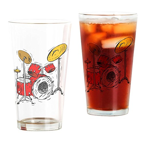 Drum Set (4) - Pint Glass, 16 oz. Drinking Glass