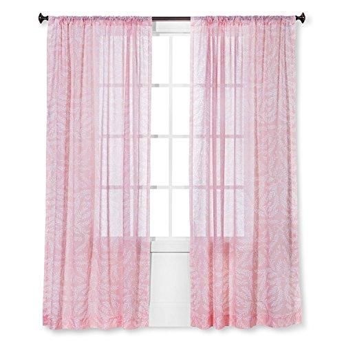 Threshold Sheer Vorhang Panel (Porzellan pink) - Porzellan-panel