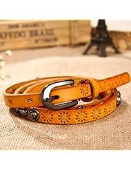 WZW Cuir rivet accessoires robe ceinture