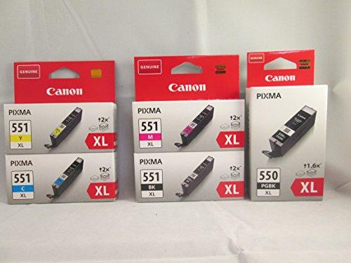 Original Patronen Set PGI-550 XL PGBK, CLI-551 XL C, CLI-551 XL M, CLI-551 XL Y, CLI-551 XL BK